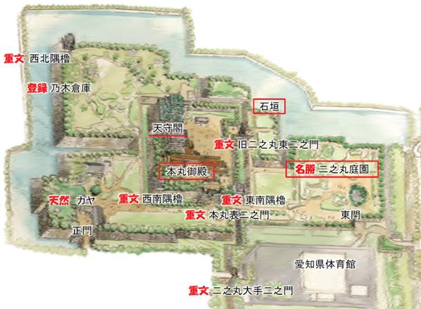 名古屋城の整備状況